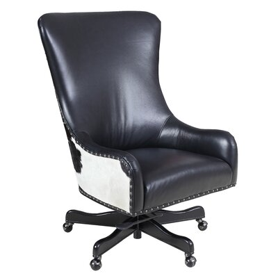 Leather Executive Chair Upholstery: Nouveau Black
