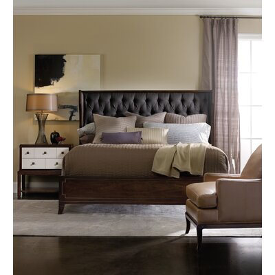 Palisade Upholstered Wingback Headboard Size: King, Upholstery: Carbon