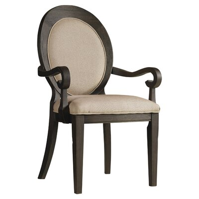 Corsica Upholstered Dining Chair (Set of 2) Finish: Espresso