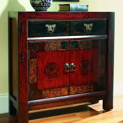 Asian 2 Door/1 Drawer Hall Chest