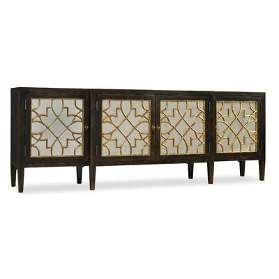 Hooker Furniture Living Room Sanctuary Four Door Mirrored Console Sideboard