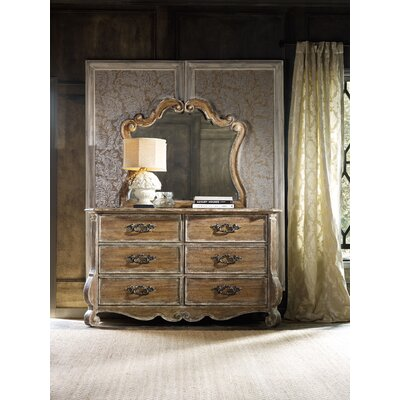 Chatelet 6 Drawer Dresser and Mirror