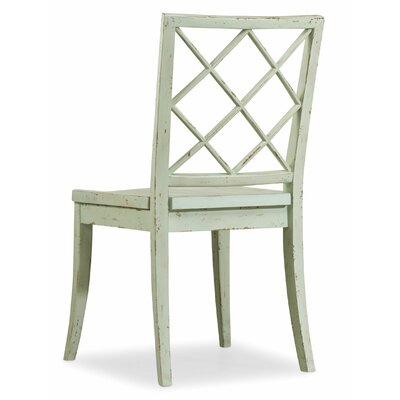 Sunset Point X Back Side Chair (Set of 2) Side Chair Finish: St. Johns Blue