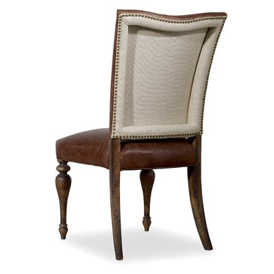 Willow Bend Genuine Leather Upholstered Dining Chair (Set of 2)