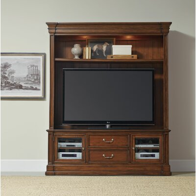 Clermont 74 TV Stand Color: Medium Brown