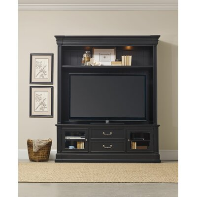 Clermont 74 TV Stand Color: Black