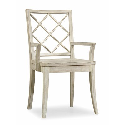 Sunset Point X Back Arm Chair (Set of 2) Arm Chair Finish: Hatteras White