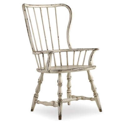Sanctuary Arm Chair (Set of 2) Finish: Vintage Chalky White
