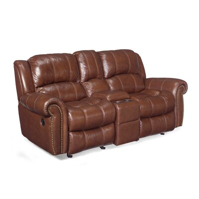 Entertainment 2 Glider Leather Reclining Sofa