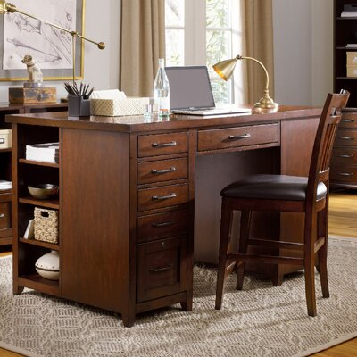 Wendover Bookcase Pedestal Executive Desk with 1 Drawer