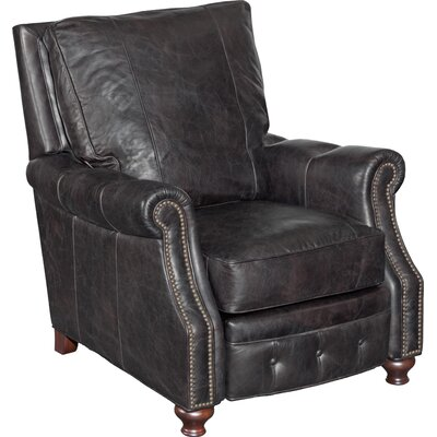 Winslow Leather Manual Recliner Body Fabric: Old Saddle Black