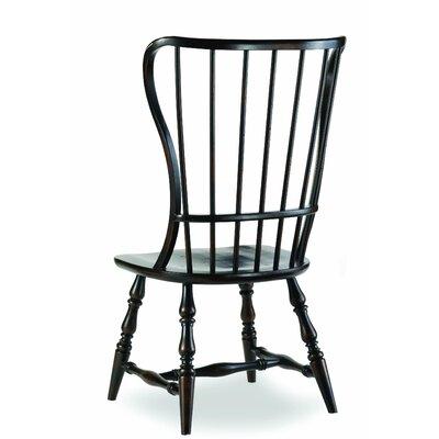 Sanctuary Spindle Back Side Chair (Set of 2) Finish: Ebony