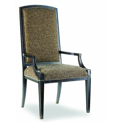 Sanctuary Mirage Upholstered Dining Chair (Set of 2) Finish: Ebony