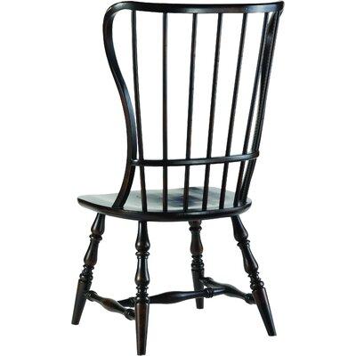 Sanctuary Spindle Back Dining Chair (Set of 2) Finish: Ebony