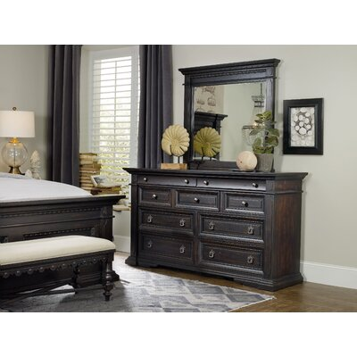 Treviso 9 Drawer Dresser with Mirror