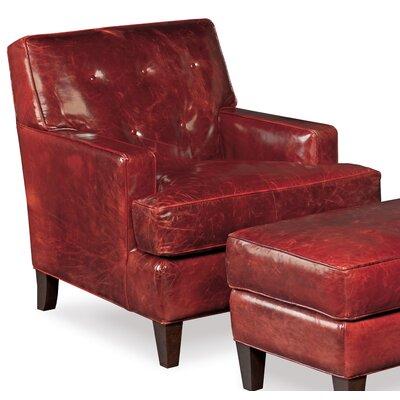 Covington Bogue Leather Club Chair with ottoman
