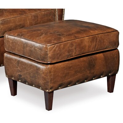 Imperial Empire Leather Ottoman