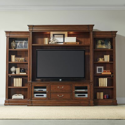 Clermont 69 Entertainment Center Color: Medium Wood