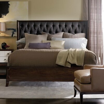 Palisade Upholstered Panel Bed Color: Carbon, Size: California King