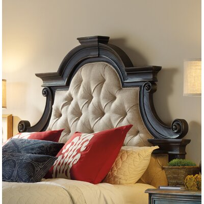 Sanctuary Upholstered Panel Headboard Size: Queen, Finish: Antique Coffee