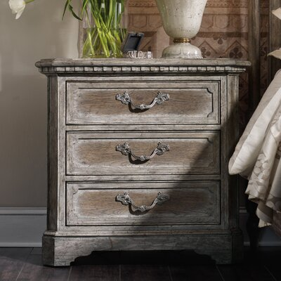 True Vintage 3 Drawer Nightstand