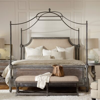 True Vintage Upholstered Canopy Bed Size: King