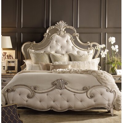Sanctuary Upholstered Panel Bed Size: Queen