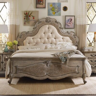 Chatelet Upholstered Panel Bed Size: King