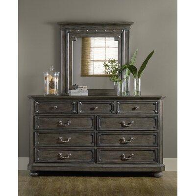 St. Armand 9 Drawer Dresser with Mirror