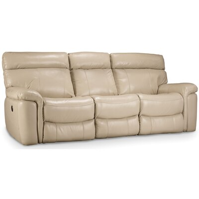 Power Motion Leather Sofa Upholstery: Taupe