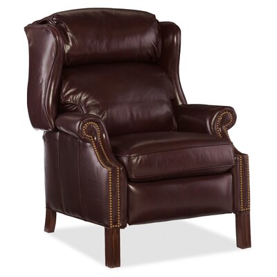 Sici Leather Manual Recliner Body Fabric: Grassetto