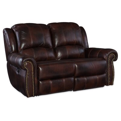 Power Motion Leather Loveseat