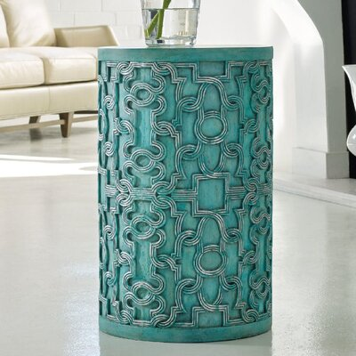 Melange Mia End Table Color: Turquise