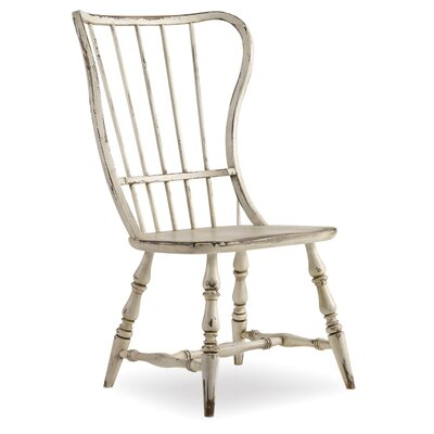 Sanctuary Spindle Back Dining Chair (Set of 2) Finish: Antique White