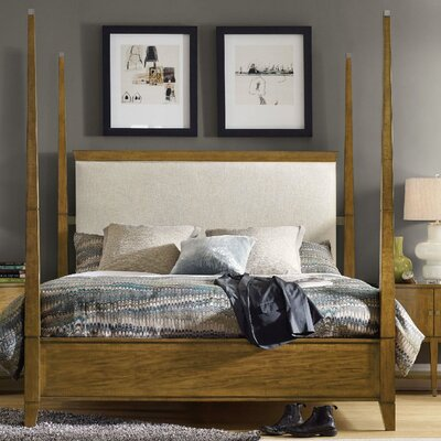 Retropolitan Upholstered Four Poster Bed Size: King