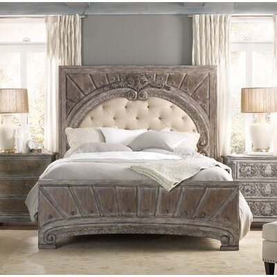 True Vintage Upholstered Panel Bed Size: King