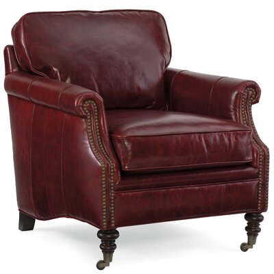 Gianno Club Chair Upholstery: Covington Bogue Red