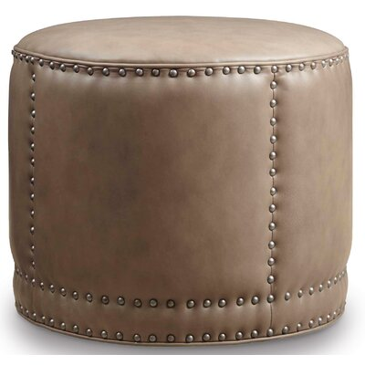 Dowdy Round Leather Ottoman Upholstery: Aspen Lenado Beige