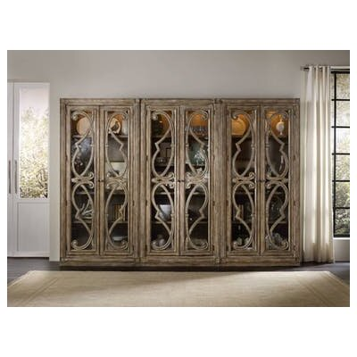 Solana Lighted Curio Cabinet