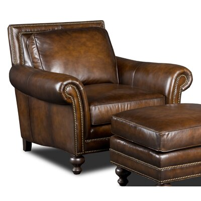 Stationary Genuine Leather Upholstered Dining Chair
