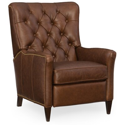 Irina Leather Recliner Upholstery: Brown