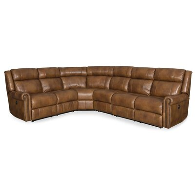 Esme Leather Reclining Sectional