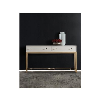 Melange Lady Console Table Finish: White