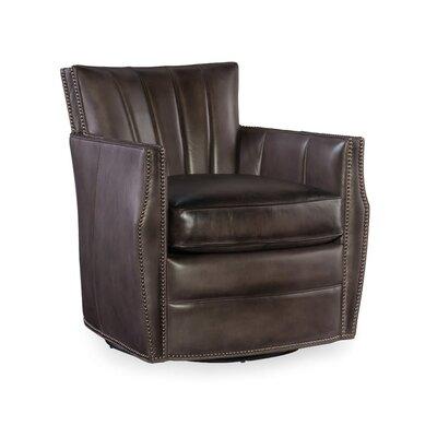 Carson Swivel Armchair Upholstery: Black