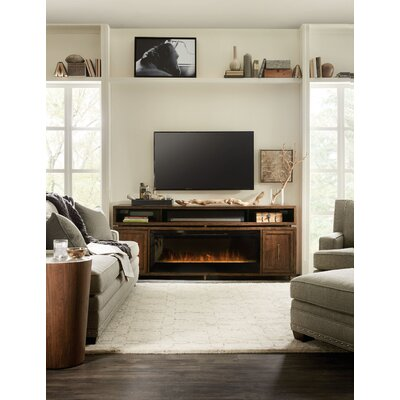 BigSur 84 TV Stand with Fireplace