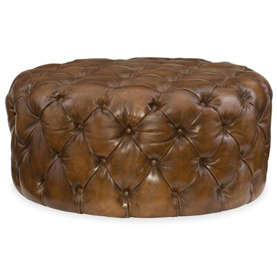 Hazel Leather Cocktail Ottoman
