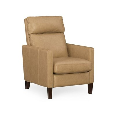 Embry Leather Recliner Upholstery: Beige
