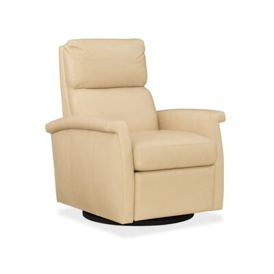 Rosalie Leather Swivel Recliner Upholstery: Beige
