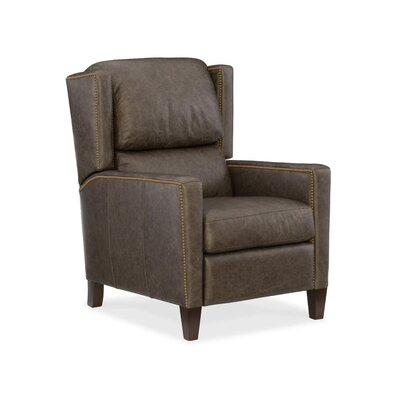 Paul Leather Recliner Upholstery: Dark Brown