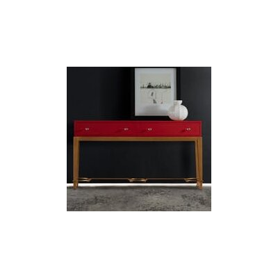 Melange Lady Console Table Finish: Red